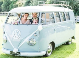 Splitscreen VW Campervans for wedding hire in Milton Keynes